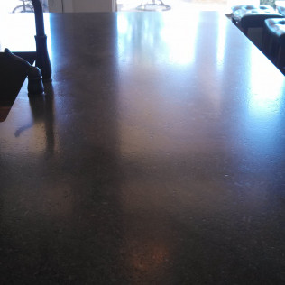 kitchen counter after polishing in tyler, tx