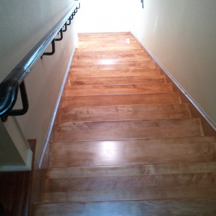 wood stairs after resurfacing services in tyler, tx