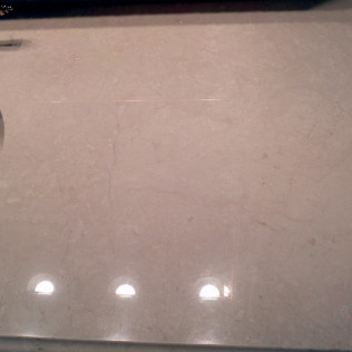 countertop after stone polishing in tyler, tx